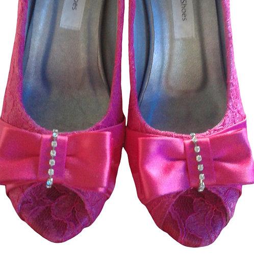 Sapato de FestaRenda Pink