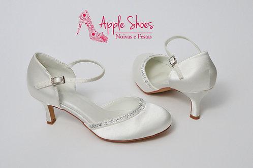Sapato de Noiva Boneca com Cristais