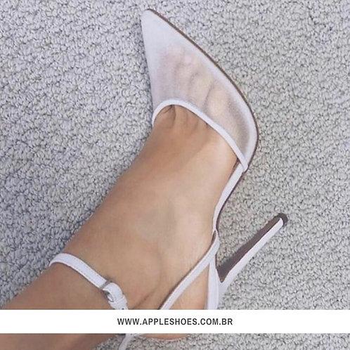Sandália Bico Fino Branca