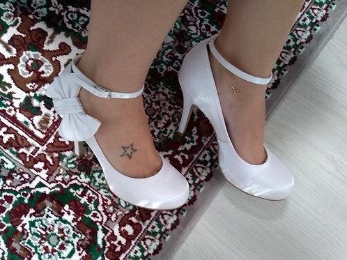 Sapato Noiva Boneca Branco