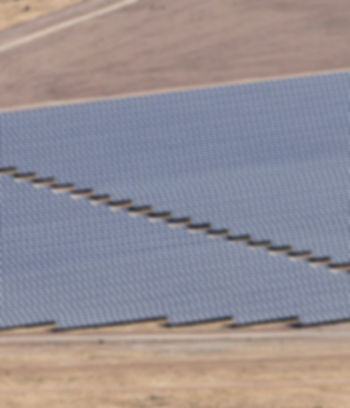 Aerial photo of solar power plant. Many