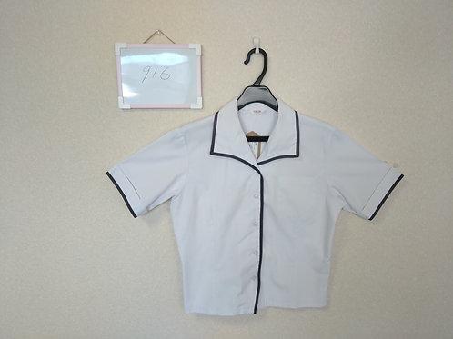 松山南高 女子 半袖ブラウス サイズ実寸:胸囲94・肩幅39・袖丈21.5・着丈50