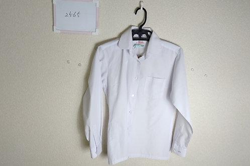 標準丸襟 女子 長袖ブラウス 155A