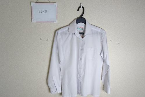 標準丸襟 女子 長袖ブラウス 165A