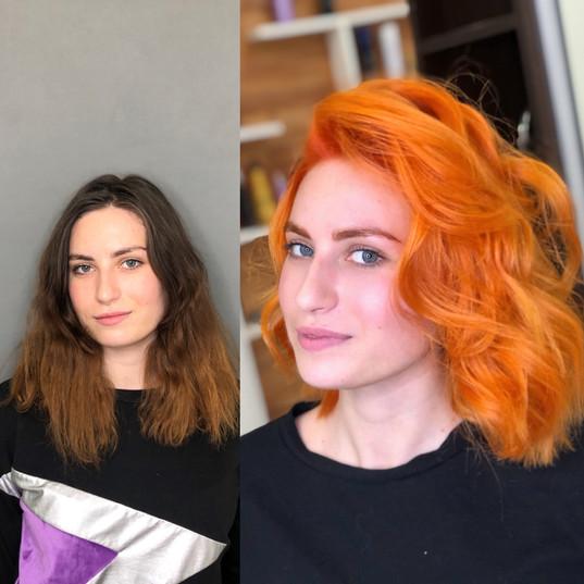 tsetnie volosy orange hair