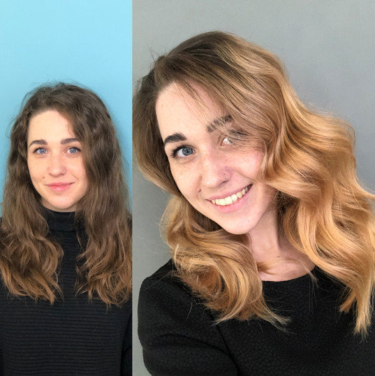 ombre balayage moskva