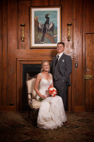 Bride and groon in The Capitan's room at the Field Club Wedding in Sarasota, Florida.