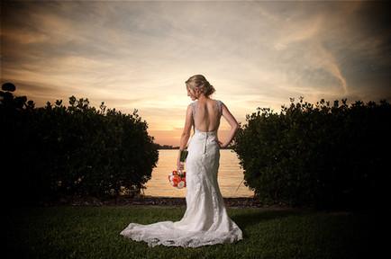 Bridal portrait at the Field Club in Sarasota, Florida.