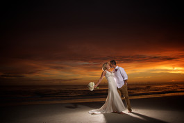 Sunset wedding on Lido Beach