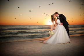 Sunset beach portraits on AMI