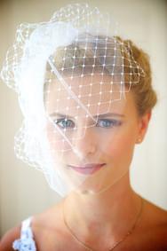 Beautiful bride before her Florida beach wedding.