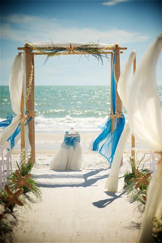Lido Beach wedding decor. Sarasota wedding.