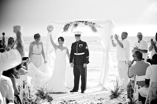 Bride and Groom at their Florida beach wedding.
