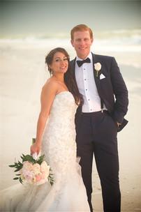 Wedding portraits at this Beach wedding on Anna Maria Island.
