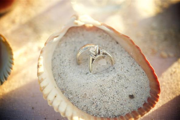 Wedding Rings on Siesta Beach.