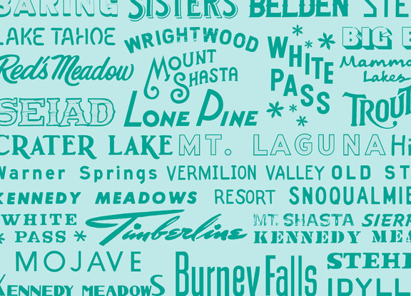 Trail Town Typography