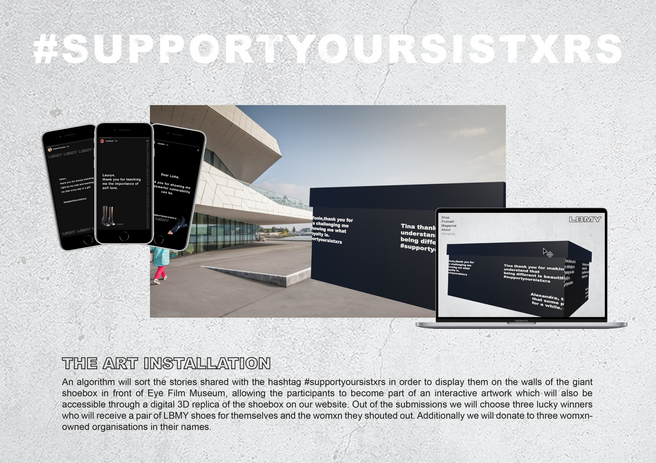 Support Your Sistxrs Art Installation