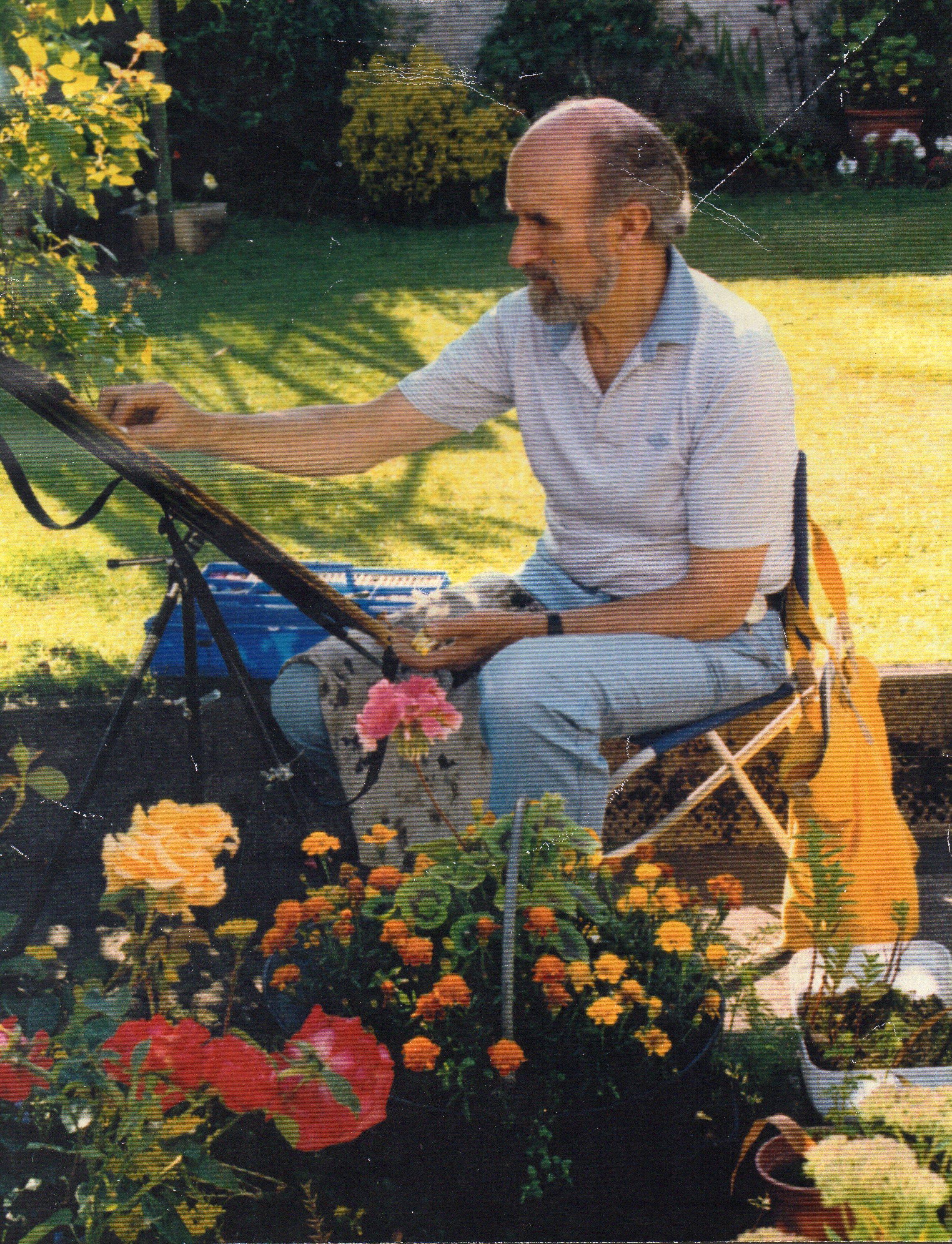 Painting In Garden 2
