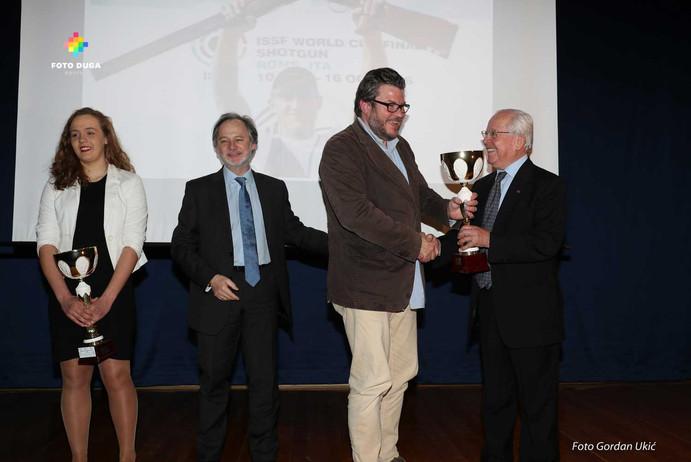 Zlatni olimpijac Giovanni Cernogoraz propustio je osobno predignuti nagradu zbog natjecanja u Padovi