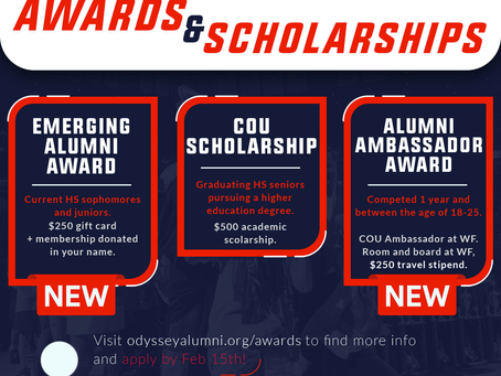 COU Scholarships / Alumni Awards