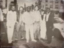 DAVID. T. WALKER,DEAN PARKS,SCOTT EDWARDS,ED GREENE,山下憂,SYLVESTER RIVERS,記念写真