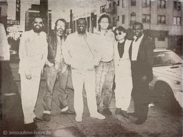 DAVID. T. WALKER,DEAN PARKS,SCOTT EDWARDS,ED GREENE,山下憂,SYLVESTER RIVERS,記念写真