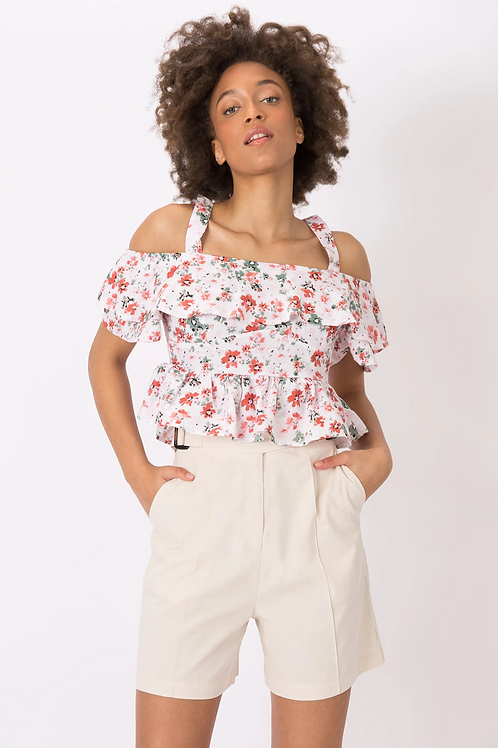 Top cropped Textura floral