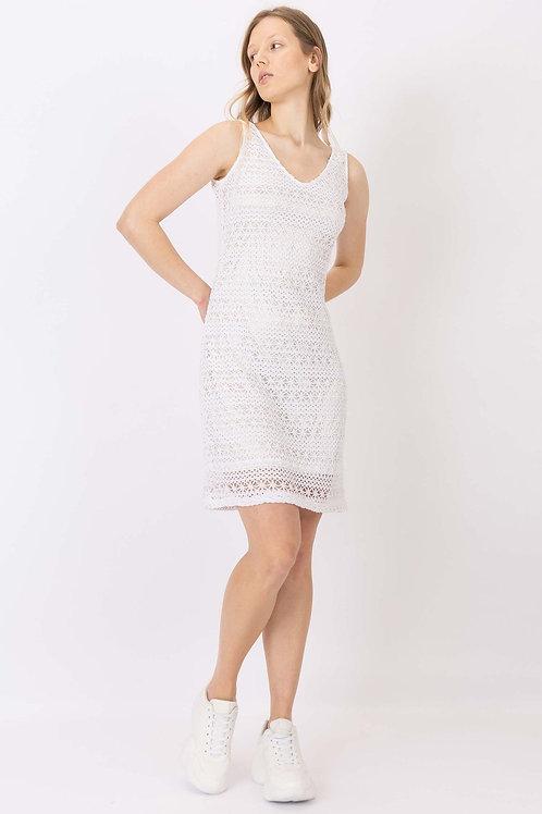 Vestido midi Crochet
