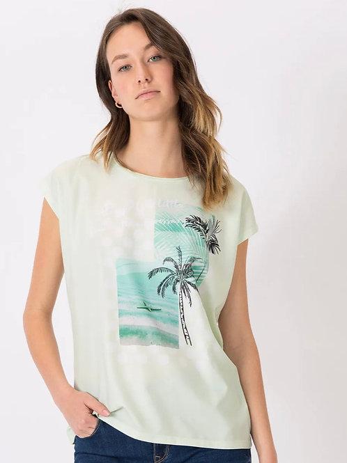 Camiseta combinada estampada