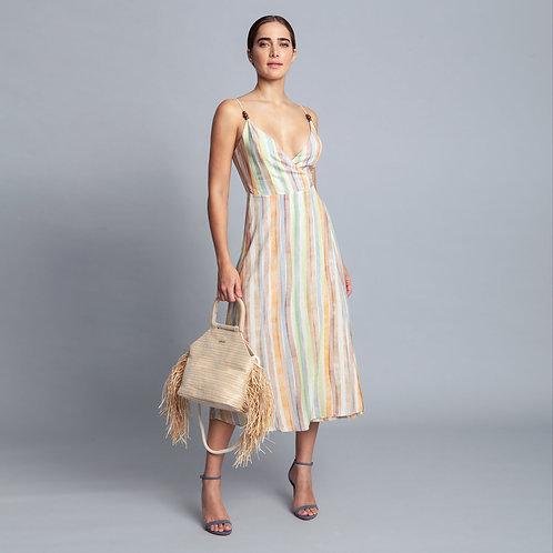 Vestido midi de tejido rayón Bali Brisa