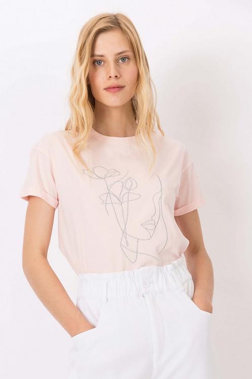 Camiseta estampada Watermelon rosa