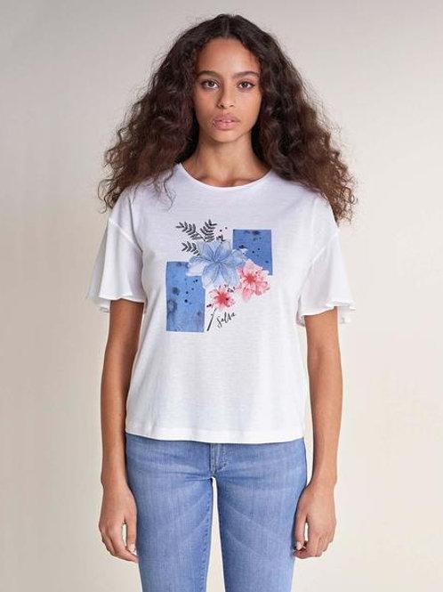 Camiseta con estampado floral Salsa