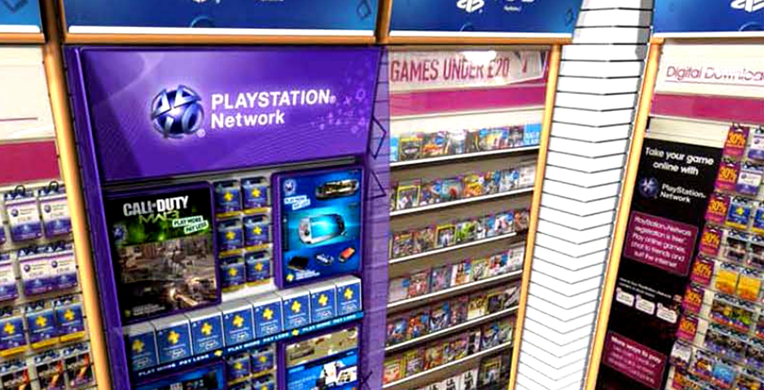 Sony Playstation Displays