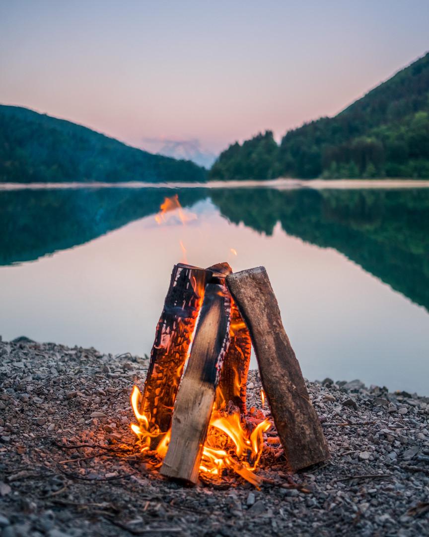 Campfire Austrian Lake