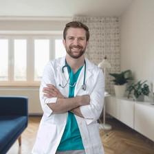 Portrait eines jungen Arztes