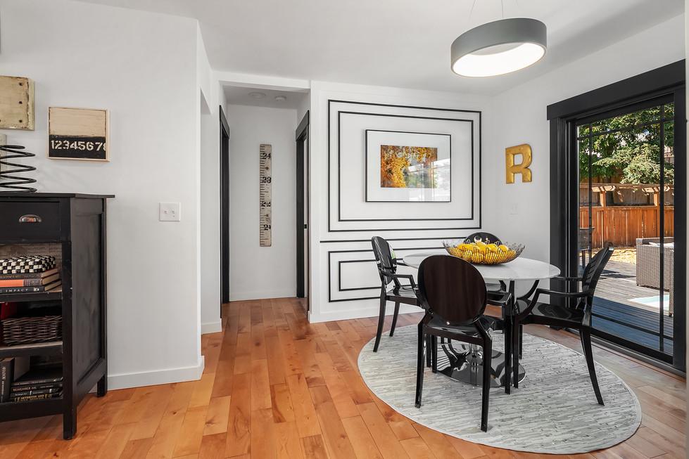 Black & White Living Room Remodeling