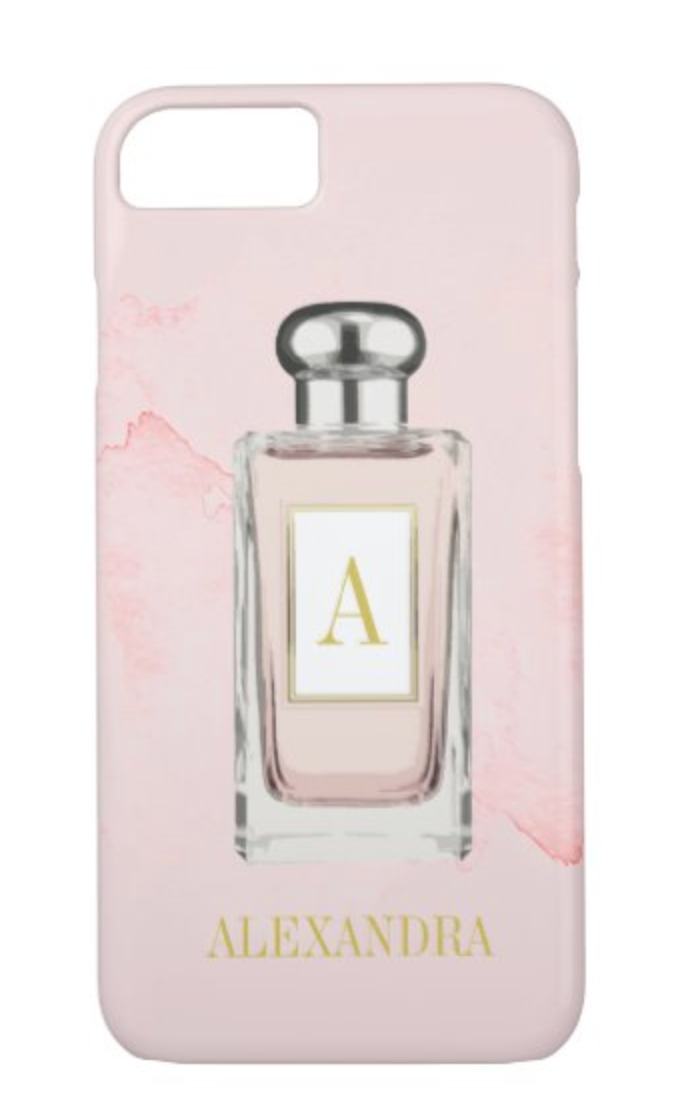 french perfume bottle personal custom phone case