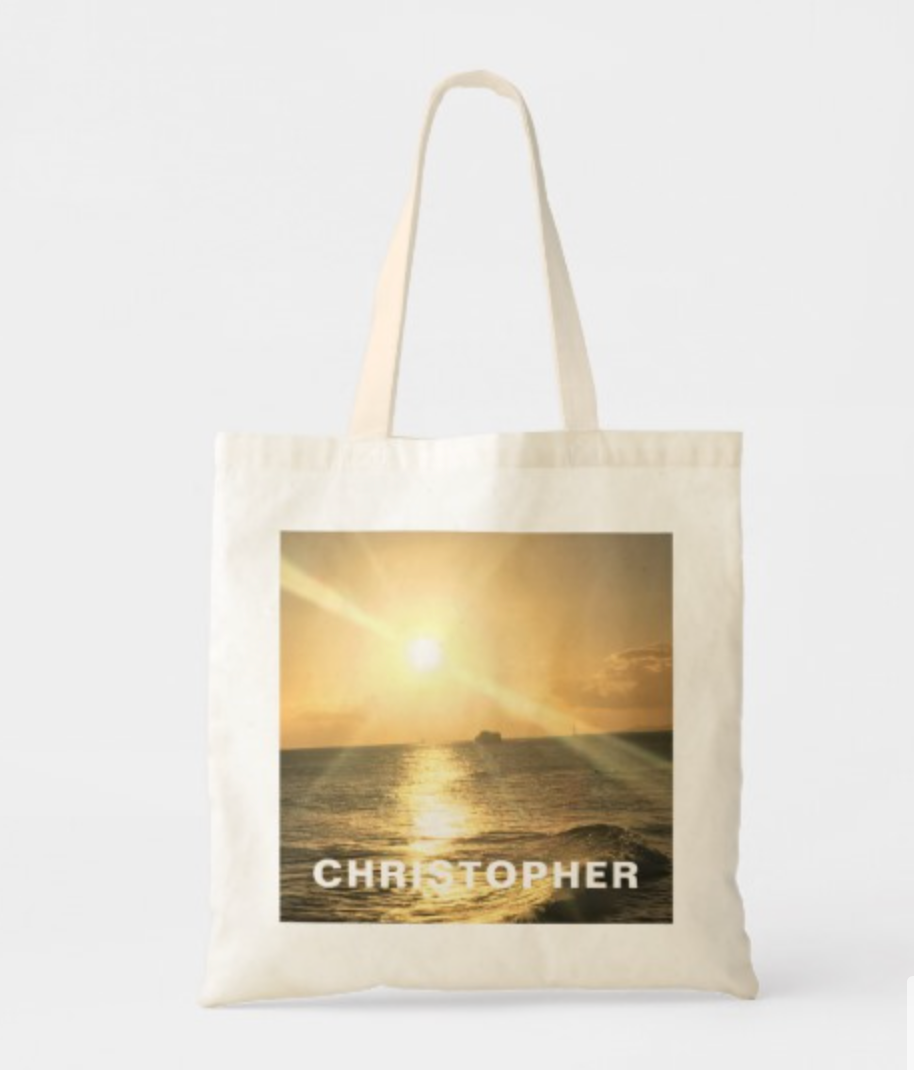 Tropical  Sunset with Beautiful Colours Tote Bag