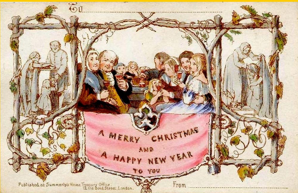 christmas card history custom christmas holiday greeting cards