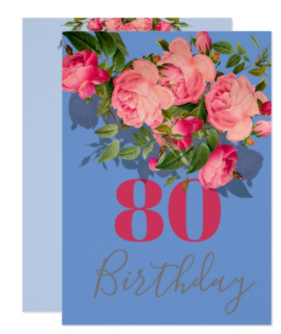 custom birthday invitation 80th birthday 90th 60th 70th