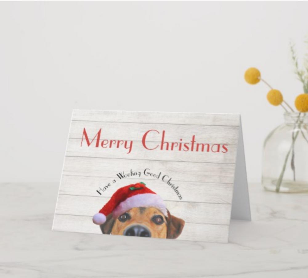 custom christmas cards funny christmas pets  dogs christmas