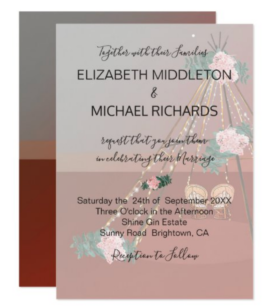 desert custom wedding outdoors wedding sustainable zazzle made