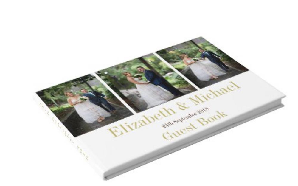 wedding  custom guest book keepsake momentos