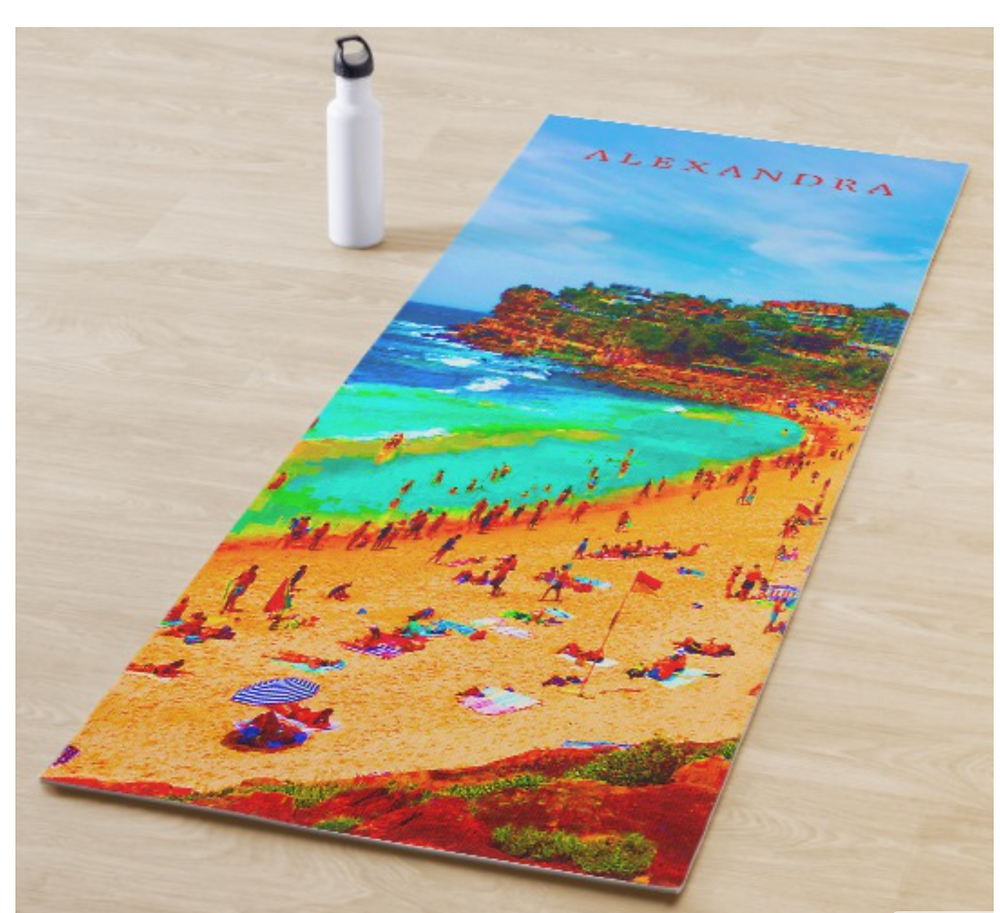 Beach Sea Summer Ocean Life Colorful Personal Yoga Mat