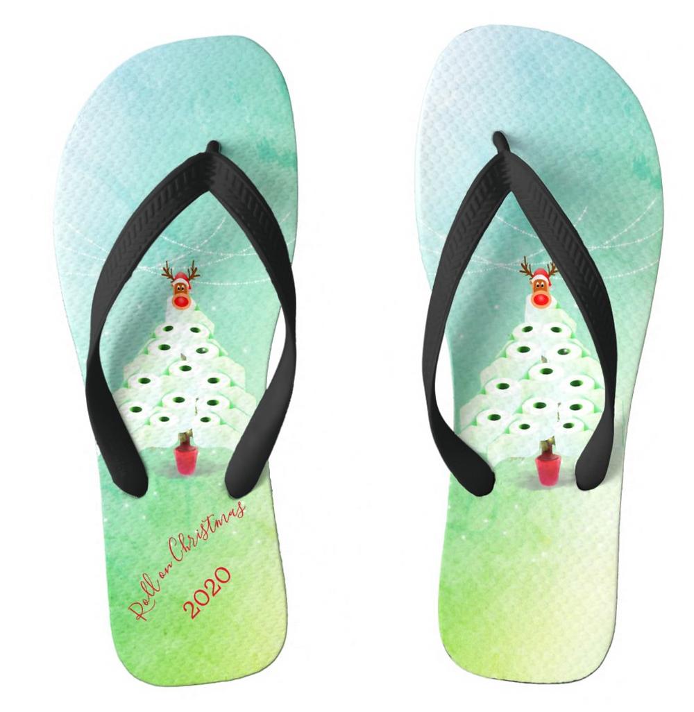 funny flip flops corona virus toilet paper Christmas tree christmas gifts