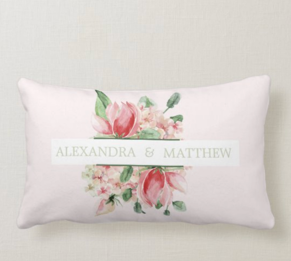 wedding keepsake custom rose pillow. zazzlemade
