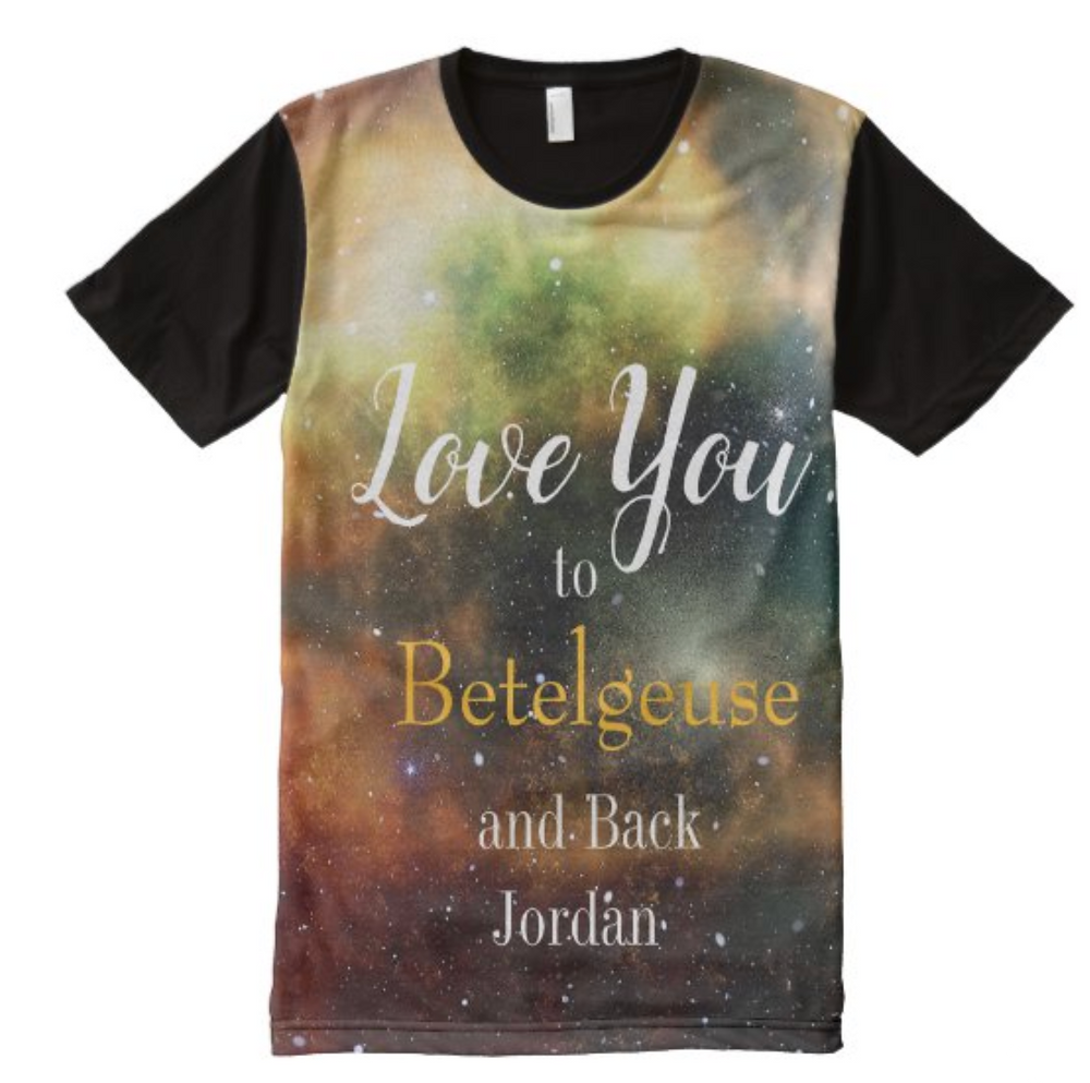valentine day custom personal t-shirt love you to the moon and back