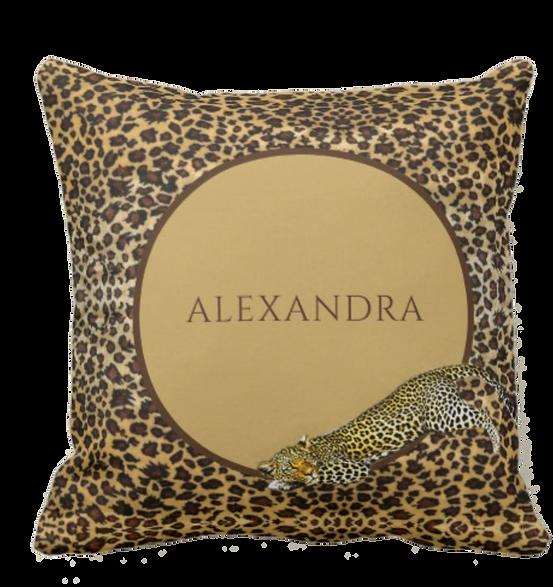 leopard throw pillow custom pillow personal gift