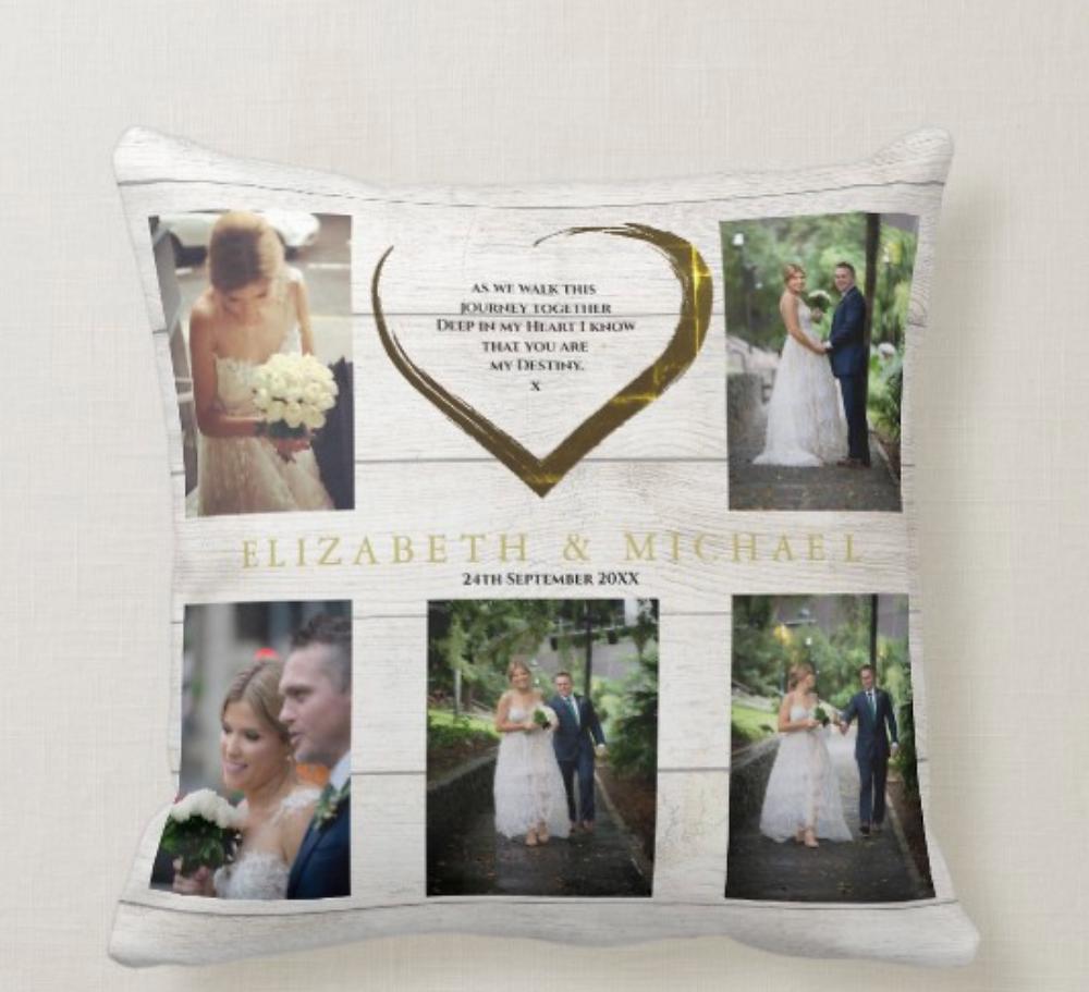 wedding pillow  custom photo keepsake