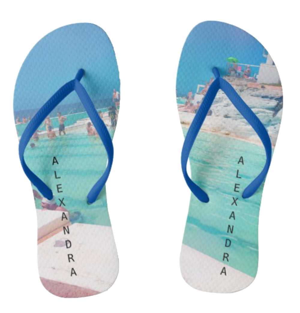 flip flops beach summer image personal name custom